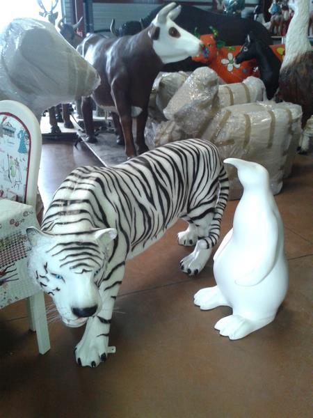 tigre animaux en résine classique  002