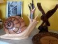 escargot en résine