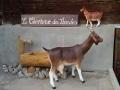 chèvre en résine classique 004