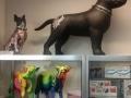 chien chat en résine design 025