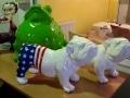 chien chat en résine design 041