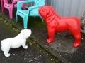 chien chat en résine design 043
