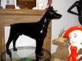chien chat en résine design 084