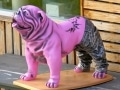 chien chat en résine design 120