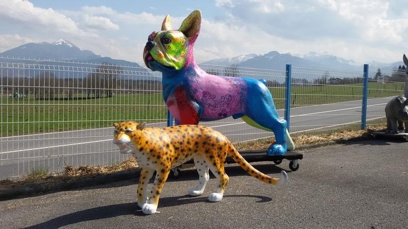 chien chat en résine design 029