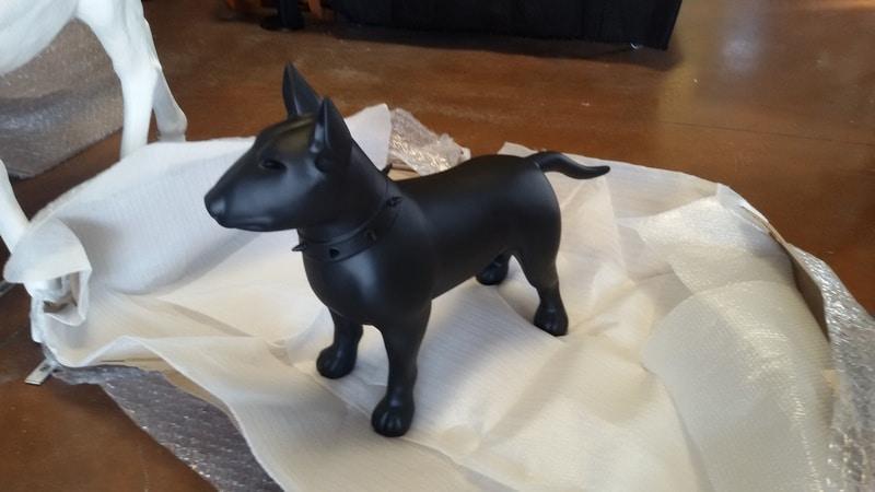 chien chat en résine design 058