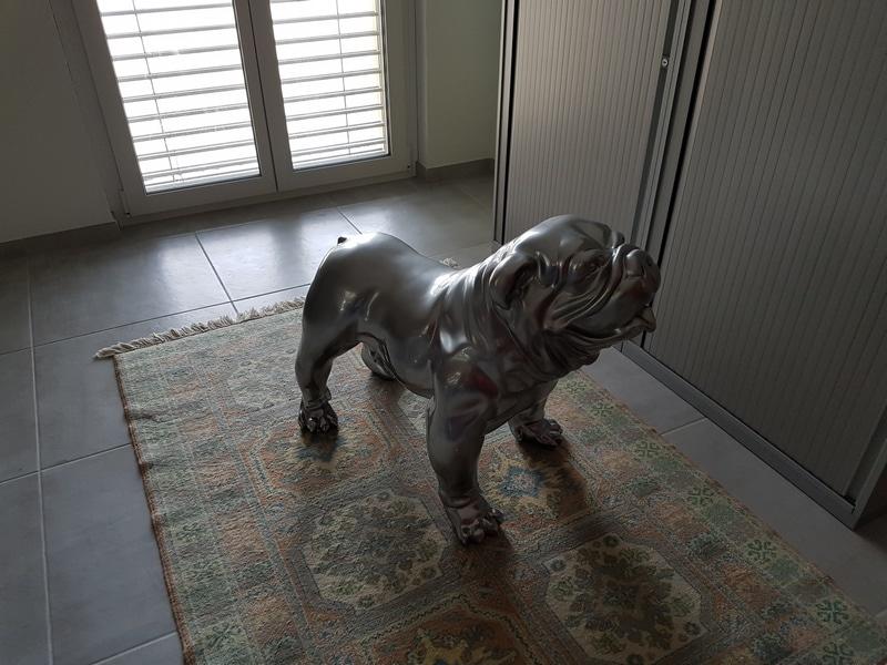 chien chat en résine design 072