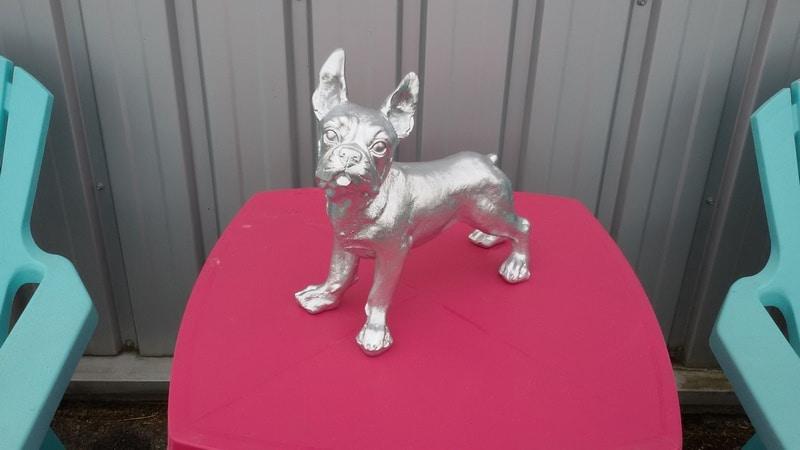 chien chat en résine design 100