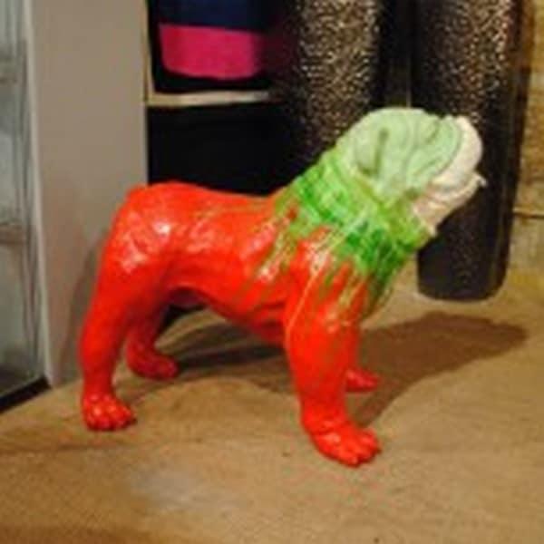 chien chat en résine design 124