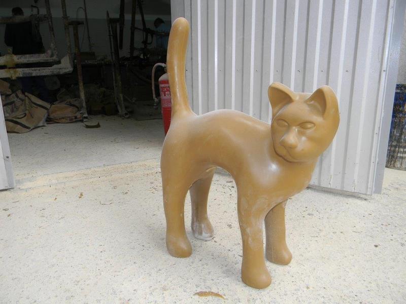 chien chat en résine design 146