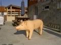cochon en résine classique 006