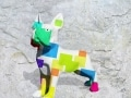 bouledogue en resine design cube color 001