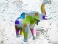 éléphant en resine design cube color 009