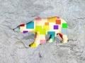grand ours fleur   en resine design cube color 006