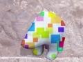 ours 2 fleur   en resine design cube color 010