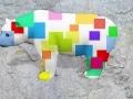 ours fleur   en resine design cube color 012