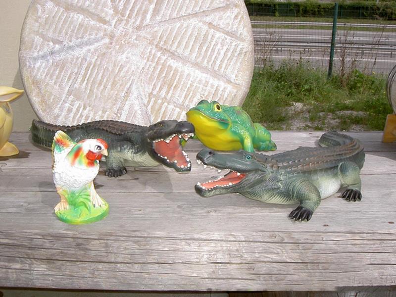 Crocodile animaux en résine classique  016