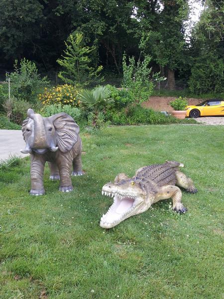 Crocodile animaux en résine classique  020