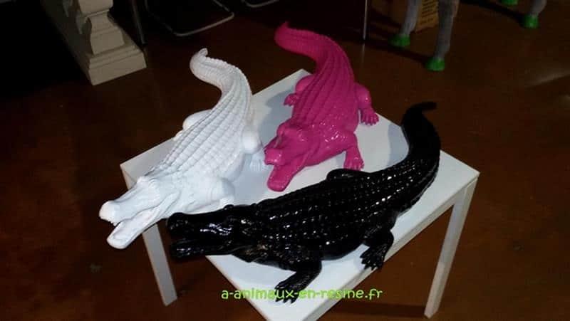 Crocodile animaux en résine classique  026