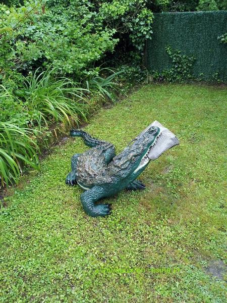 Crocodile animaux en résine classique  037