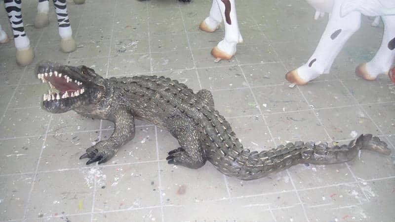 Crocodile animaux en résine classique  039