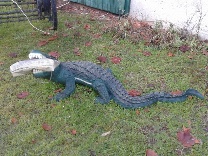 Crocodile animaux en résine classique  045