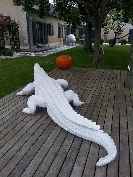 Crocodile animaux en résine classique  046
