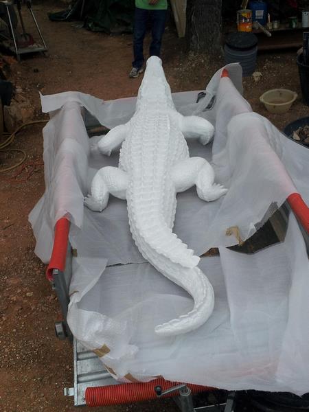 Crocodile animaux en résine classique  056