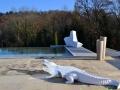 Crocodile animaux en résine classique  043