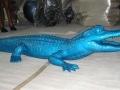 crocodile en résine design 011