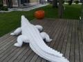 crocodile en résine design 013