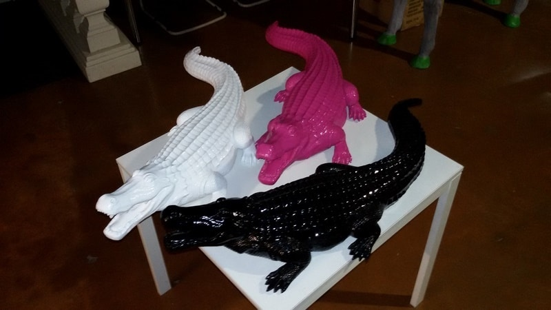crocodile en résine design 001