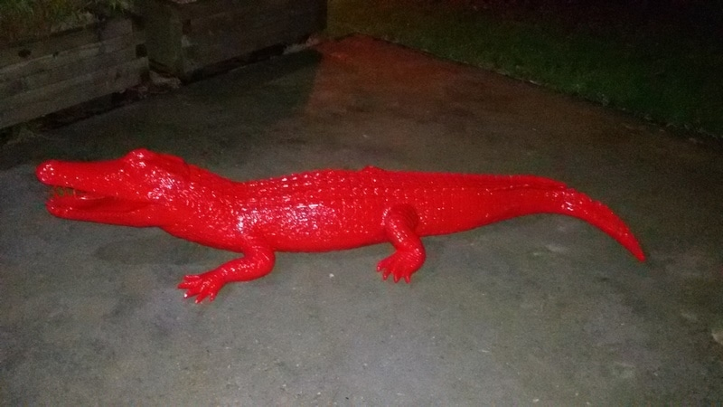 crocodile en résine design 002