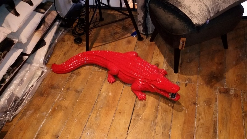 crocodile en résine design 003