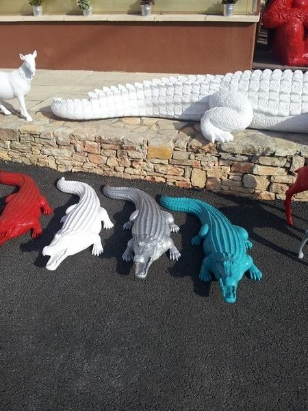 crocodile en résine design 004