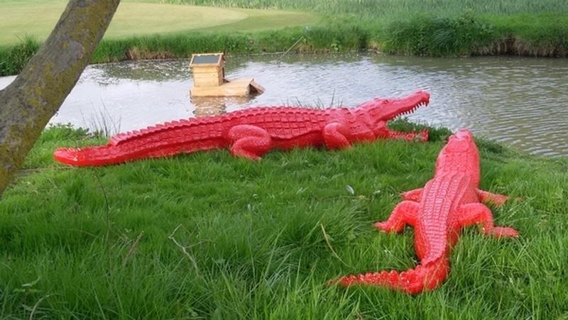 crocodile en résine design 007