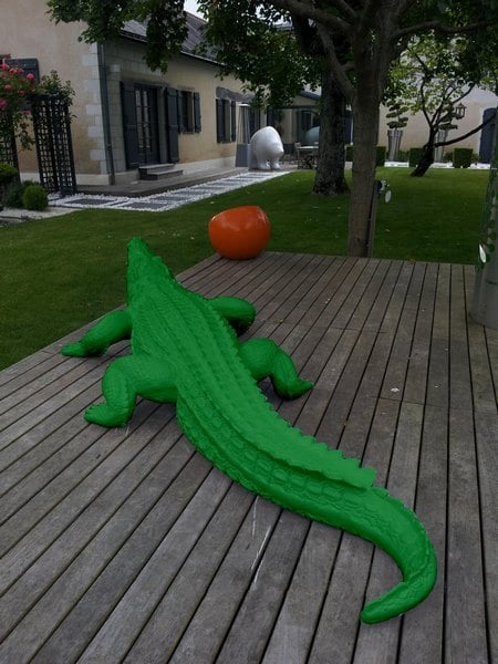 crocodile en résine design 008