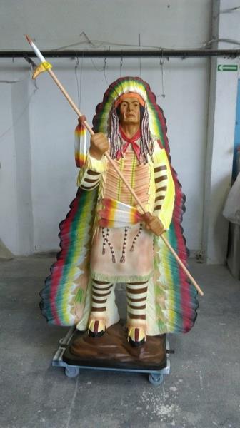 statue iroquois en  résine 114