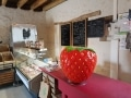 fraise fruit légume en résine design  014