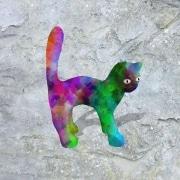 chat   en resine design
