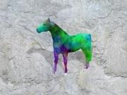 cheval fleur   en resine design