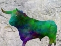 taureau en resine design