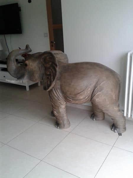 Eléphant animaux en résine classique  059