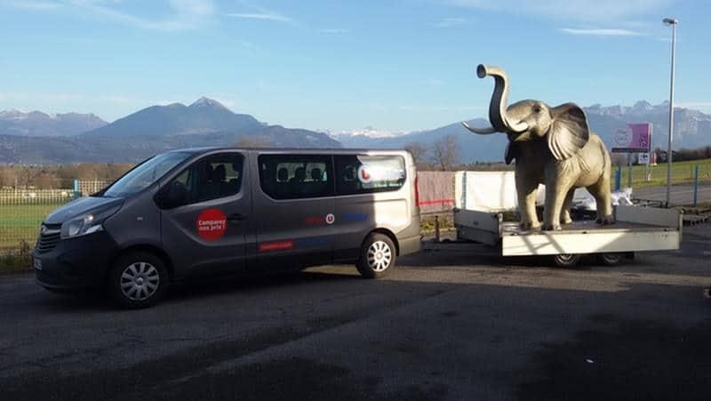 Eléphant animaux en résine classique  061