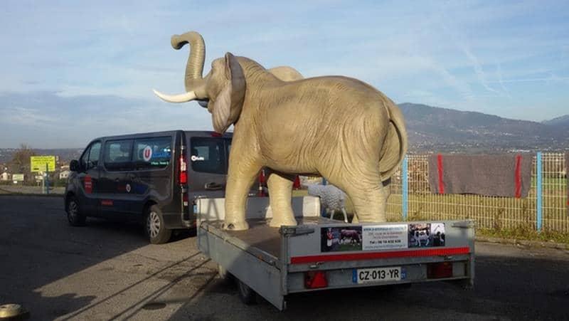 Eléphant animaux en résine classique  062