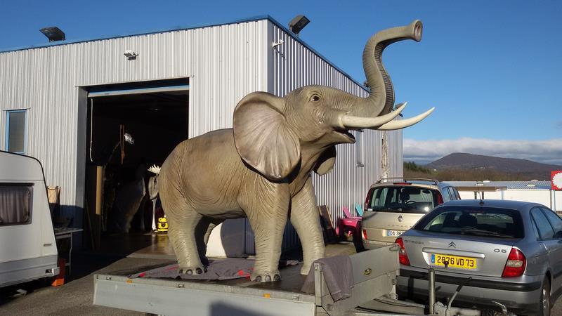 Eléphant animaux en résine classique  067