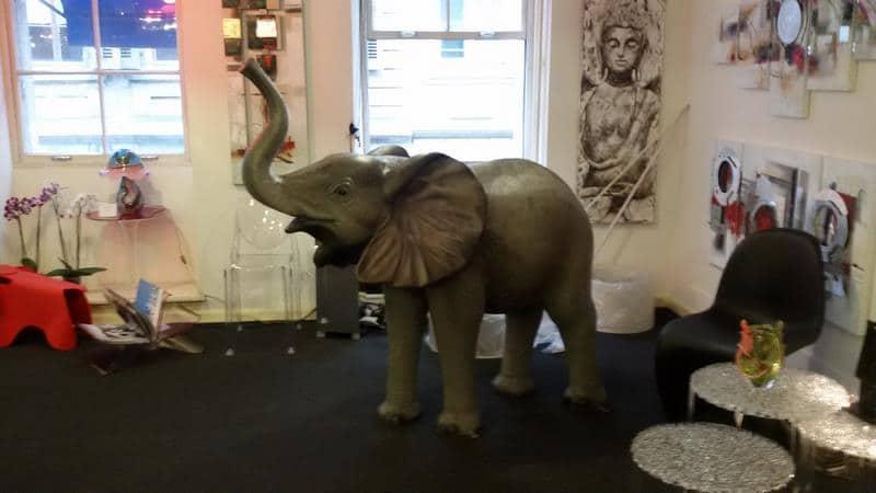 Eléphant animaux en résine classique  070