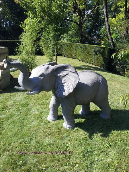 Eléphant animaux en résine classique  074