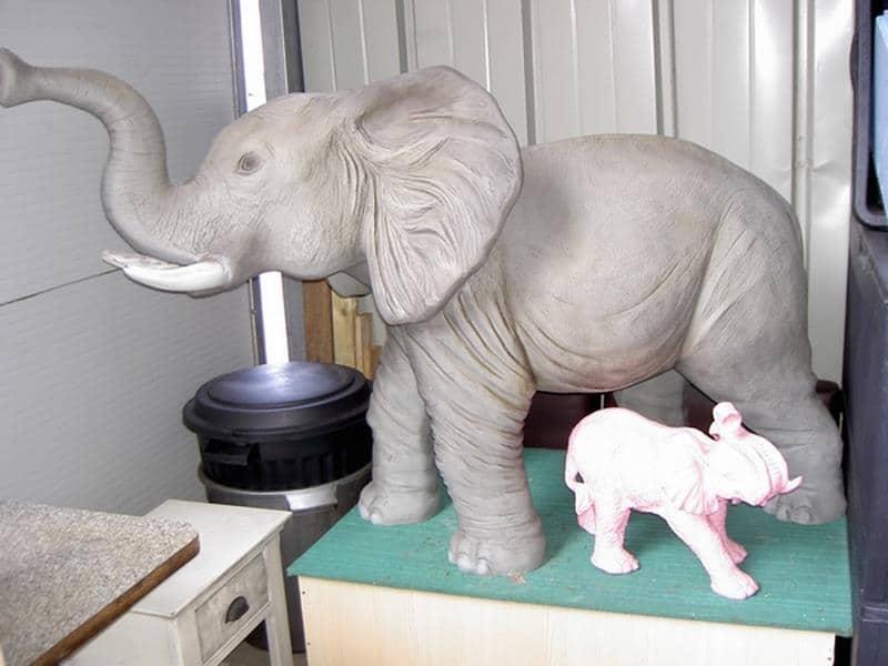 Eléphant animaux en résine classique  079
