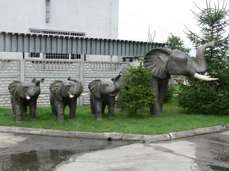 Eléphant animaux en résine classique  080